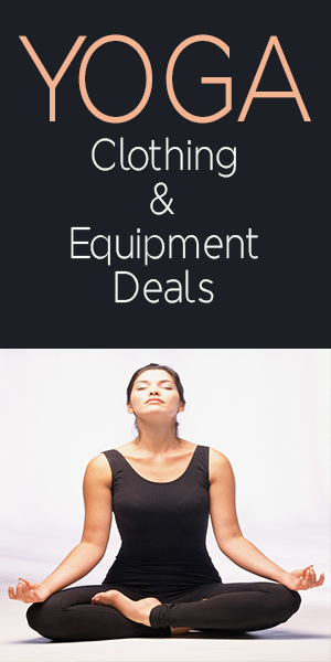 A list of Yoga clothing & equipment deals from around the web, listing discounts, coupons and promocodes