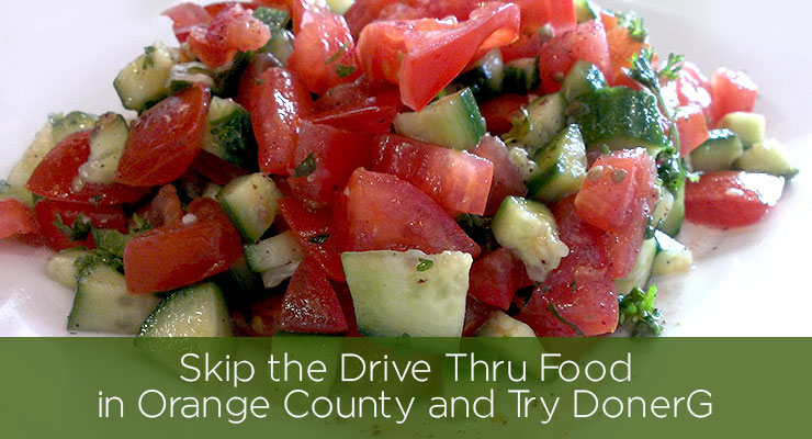 Skip the Drive Thru Food in Orange County and Try DonerG