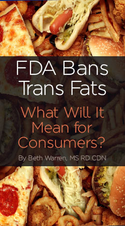 FDA Bans Trans Fats - Understand how this will effect your foods and diet